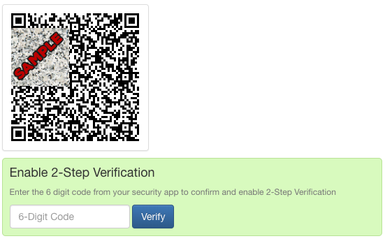 2-Step Verification for ClearCheckbook